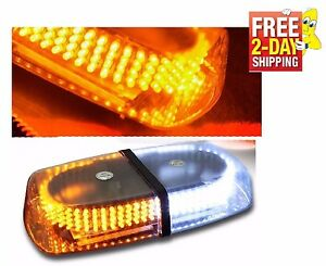 240 Led Amber White Safety Warning Flashing Strobe Light Snow Plow Service Truck