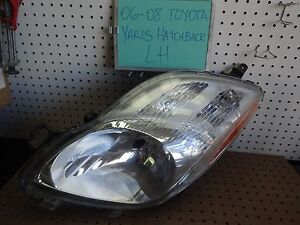 06 07 08 Toyota Yaris Hatchback Left Driver Headlight Oem 2006 2007 2008