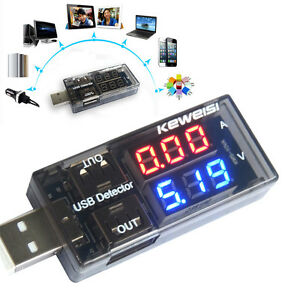 Usb Charger Current Voltage Charging Detector Battery Tester Volt Meter Ammeter