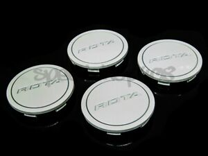 Rota Wheels Center Caps Gloss White Z Cap 4pcs Replacement G Force Torque Grid