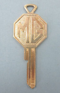 Vintage Mg Yellow Gold Plated Mrn Key Mg Mrn Keyway