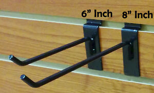 100 New Slatwall Metal Hook Bundle 6 8 50 Each Black