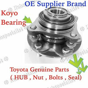 Front Wheel Hub Bearing Assembly For 2005 2015 Toyota Tacoma Pre Runner 2wd Rwd
