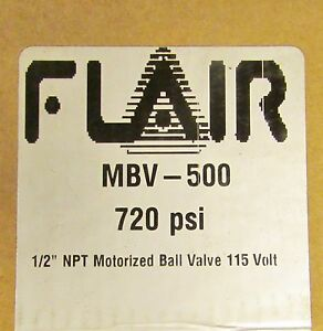 Flair Motorized Ball Valve 720 Psi 115v Mbv 500