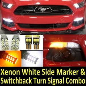 2015 2017 Mustang Super Bright Switchback Led Turn Signal Side Marker Package