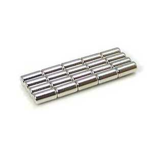 Industrial Neodymium Rare Earth Magnets N35 4x8mm Cylinder 5 32 X 5 16