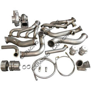 Cxracing Single Turbo Header Manifold Kit For 79 93 Ford Mustang V8 5 0 Na t T70