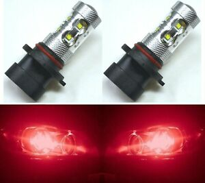 Led 50w 9005xs Hb3a Red Two Bulbs Head Light High Beam Replacement Show Use