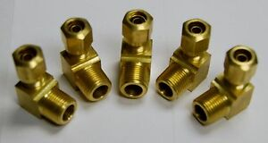 Brass Fittings Dot Air Brake Male Elbow Tube Od 1 2 Male Pipe 3 8 Qty 25