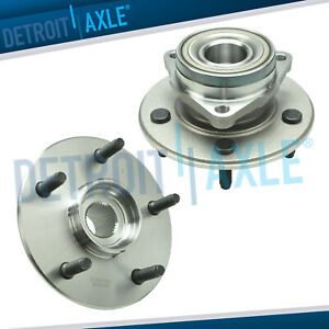 4x4 Front Wheel Bearing And Hub Pair Non abs For 2000 2001 Dodge Ram 1500 4wd