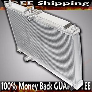 Racing Aluminium Dual Core 2 Row Bolt on Cooling Radiator For 03 08 Evo 8 9 Ct9a
