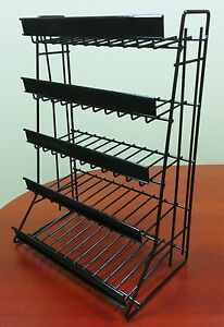 5 Tier Shelf Counter Top Snack Gum Card Potato Chip Candy Display Rack Black