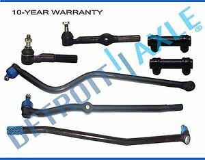 For 1994 1996 1997 Dodge Ram 1500 2500 Front Tierod Track Bar Drag Link Kit 4x4