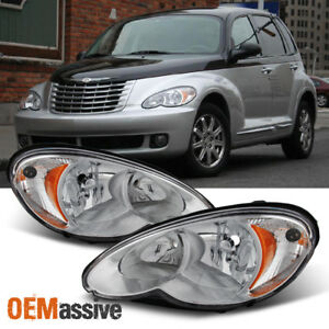 Fit 2006 2010 Chrysler Pt Cruiser Replacement Headlights Lamps Left Right Pair