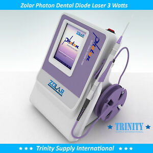 Dental Diode Laser 3 Watts Complete Set Zolar Photon Fda Cleared dvd high Tech