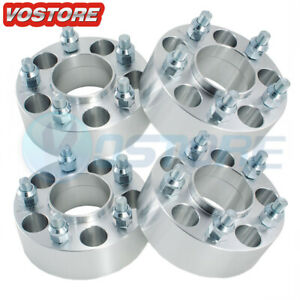 4 2 5 Lug Hubcentric Wheel Spacers Adapters 5x4 75 For Chevy Gmc Cadillac