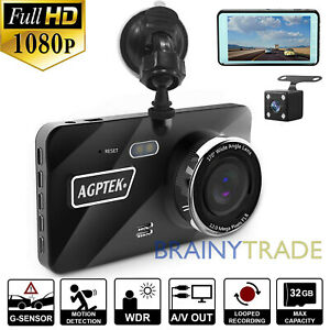 4 Vehicle 1080p Hd Car Dashboard Dvr Camera Video Recorder G Sensor Dash Cam