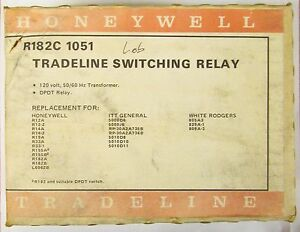 Honeywell R182c 1051 Tradeline 120v Switching Relay