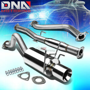 4 rolled Tip Stainless Steel Exhaust Catback System For 93 97 Del Sol Eg Eh6