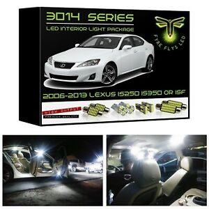 White Led Interior Lights Package Kit For 2006 2013 Lexus Is250 Is350 Isf