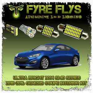 White Led Interior Lights Package Kit For Genesis Coupe 8 Pcs 3014 Series Smd