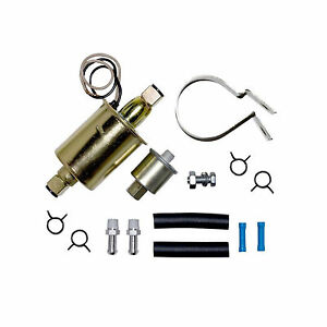 New Universal 5 9 Psi In Line External Electric Fuel Pump W Installation Kit