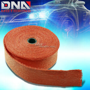 10m 32 Feet 2 W Header Manifold Exhaust Turbo Down Pipe Piping Orange Heat Wrap
