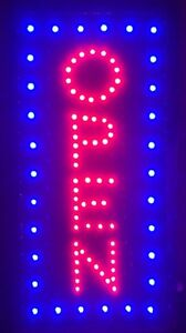 Toprated Led Neon Light Vertical Open W Motion Animation On off Switch Sign R10