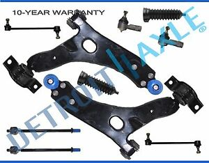 2006 Ford Focus New 10pc Front Lower Control Arm Pair Suspension Kit