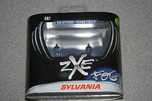 Sylvania Silverstar Fog Zxe 881 Pair Set Headlight Bulbs Xenon Fueled New