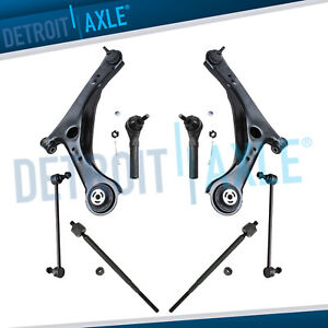 8pc Front Lower Control Arms Tie Rods Suspension Kit For Dodge Grand Caravan