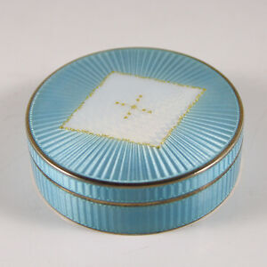 Guilloche Enamel Box