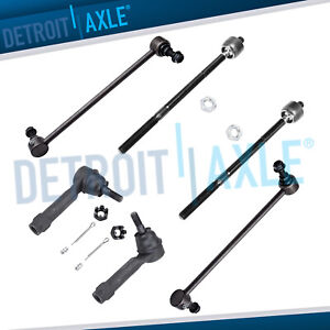 All Inner Outer Tie Rods Front Sway Bar Links Grand Caravan Town Country
