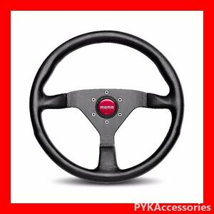 Genuine Momo Steering Wheel Monte Carlo Black Red 320mm Mcl32bk3b