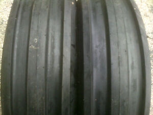 Two New 500 15 Farm F 2 Tri rib 3 Rib Tires W Tubes 4 Ply Tractor 5 00
