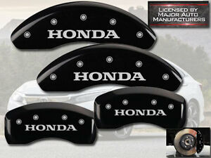 2004 2005 Honda Civic Si Front Rear Black Mgp Brake Disc Caliper Covers