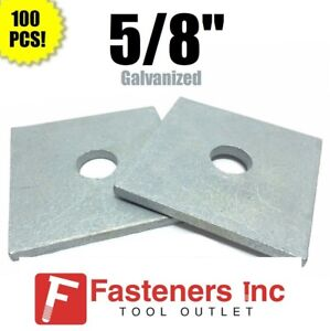 qty 100 5 8 X 3 X 25 approx Square Bearing Plate Washer Galvanized