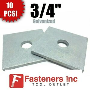 qty 10 3 4 X 3 X 25 approx Square Bearing Plate Washer Hot Galvanized