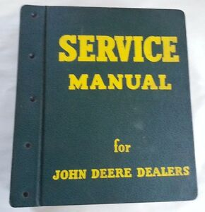 1960 s John Deere 1020 2020 Service Manual With Vintage Jd Binder