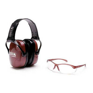 Howard Leight Womens Shooting Combo Kit Earmuff Nrr25 Dusty Rose