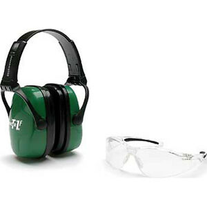 Howard Leight Adult Shooting Cmbo Kit Nrr25 Green Earmuff Clear Glasses