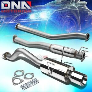 4 rolled Tip Stainless Steel Exhaust Catback System For Rsx Dc5 Non Type s K20a3