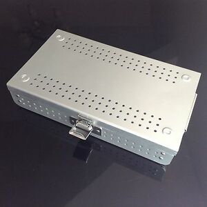 New Aluminium Alloy Sterilization Tray Box Case Big Size Surgical Instruments