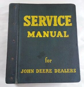 1960 s John Deere 2000 Series Service Manual With Vintage Jd Binder