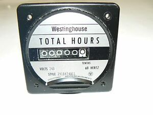 Westinghouse Electric Total Hours Meter 291b474a11 240 Volt