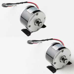 2 pair 250w 24 V Dc Electric Zy1016 Brush Motor F Scooter Eatv Ebike Project