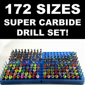 Carbide Drill Bit Set 172 Sizes Pcb Cnc Solid Carbide Jewelry Model Lg R s