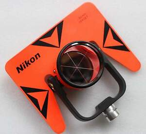 New Red Nikon Single Prism With Soft Bag For Nikon Total Station Stations