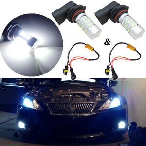 Xenon White 9006 Hb4 9012 Fog Lights 27 Smd Led Bulbs W Decoder No Error Canbus