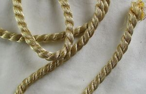 Vintage Gold Metallic Rope Cording Two Strand Cotton Fill 1 4 Wide